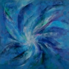 Blue Mandala, oil on canvas, 122 x 122cm, 2008 - SOLD