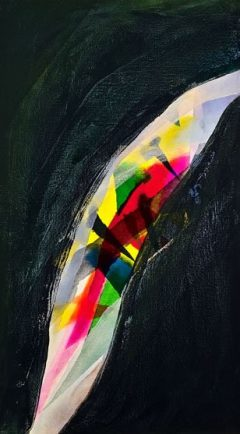 Energy Shift 2, oil on canvas, 76 x 46cm, 2009 - SOLD