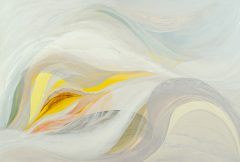 "Veiled Light 4 - oil on canvas - 80 x 120cm - 2012 ""allowing the free flow of spirit"""