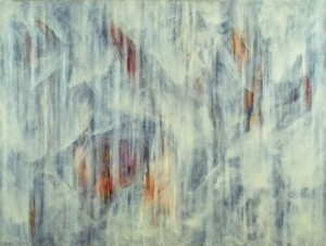 Camellia Rain, oil on canvas, 135 x 175cm, 2007