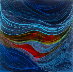 Deep Energy 2 - oil on linen - 70 x 70cm - 2013
