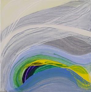 Inner  Energy 3, oil on canvas, 30 x 30cm