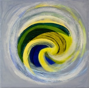 Sea Mandala 3 - oil on canvas - 30 x 30cm - 2015